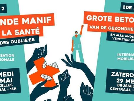 TOUS ET TOUTES À LA MANIFESTATION DE LA SANTÉ EN LUTTE