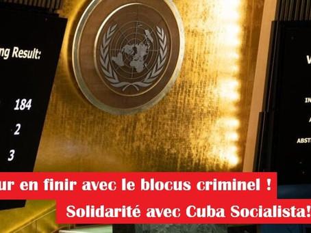 Pour en finir avec le blocus criminel - solidarité avec Cuba Socialista