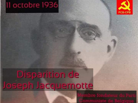 Hommage à / eerbetoon aan Joseph Jacquemotte, fondateur du / oprichter van PCB-CPB
