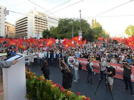 Grèce : des dizaines de milliers de travailleurs dans la rue à l'appel du KKE