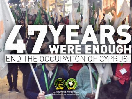 Fédération Mondiale de la Jeunesse Démocratique : mettre fin à l'occupation de Chypre