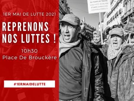APPEL DU 1ER MAI : TOUTES ET TOUS PLACE DE BROUCKÈRE - 1 Mei : Allemaal op de Brouckèreplein