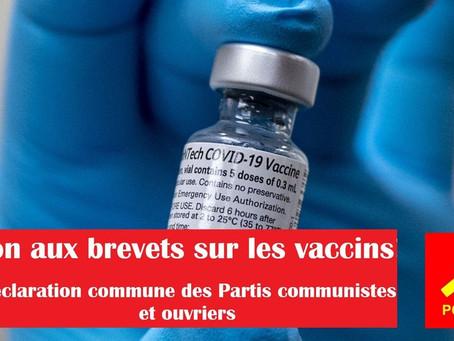 Non aux Brevets sur les vaccins - Déclaration commune des Partis Communistes et Ouvriers