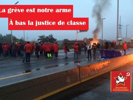 La grève est notre arme! Solidarité avec la FGTB et tous les syndicalistes de combat