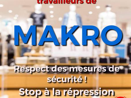 Solidarité avec les travailleurs/travailleuse du Makro de Lodelinsart/Charleroi