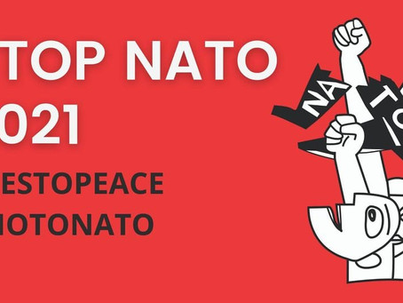 Non à l'OTAN, plus un sou pour les guerres impérialistes ! Nee tegen de NAVO !