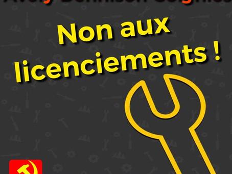 De Communistische Partij van België PCB-CPB steunt de arbeiders van Avery Dennison
