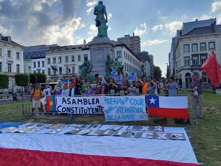 Manifestation des Chiliens de Belgique : Piñera est coupable!