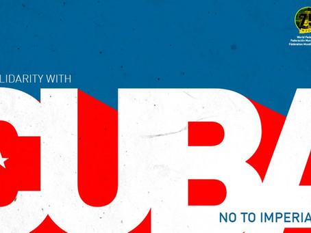 La Fédération mondiale de la jeunesse démocratique réitère son soutien à la Révolution cubaine