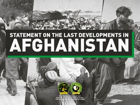 Déclaration de la Fédération Mondiale de la Jeunesse Démocratique sur les événements en Afghanistan