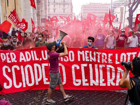 Italie : manifestation contre les licenciements, contre la répression et les milices patronales