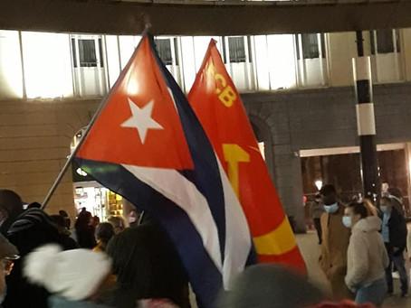 No más Bloqueo, solidariedad con Cuba