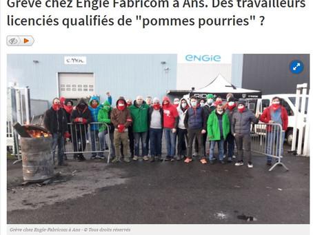 [Solidarité avec les travailleurs d'Engie Fabricom en grève ces 12, 15 et 16 février]