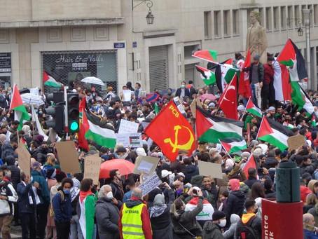 Reportage photo de la manifestation en soutien à la Palestine