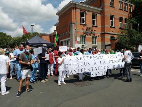 Le PCB-CPB participe à la manifestation pour les soins de santé