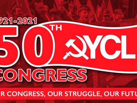 [Message de salutations au 50e Congrès de la Young Communist League - Britain]