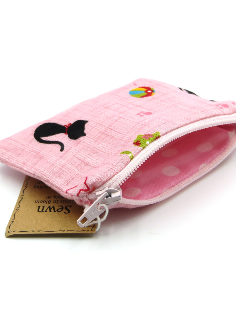 PINK CAT KEYCHAIN POUCH