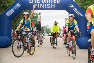 Ride United Finish Line with Bikers