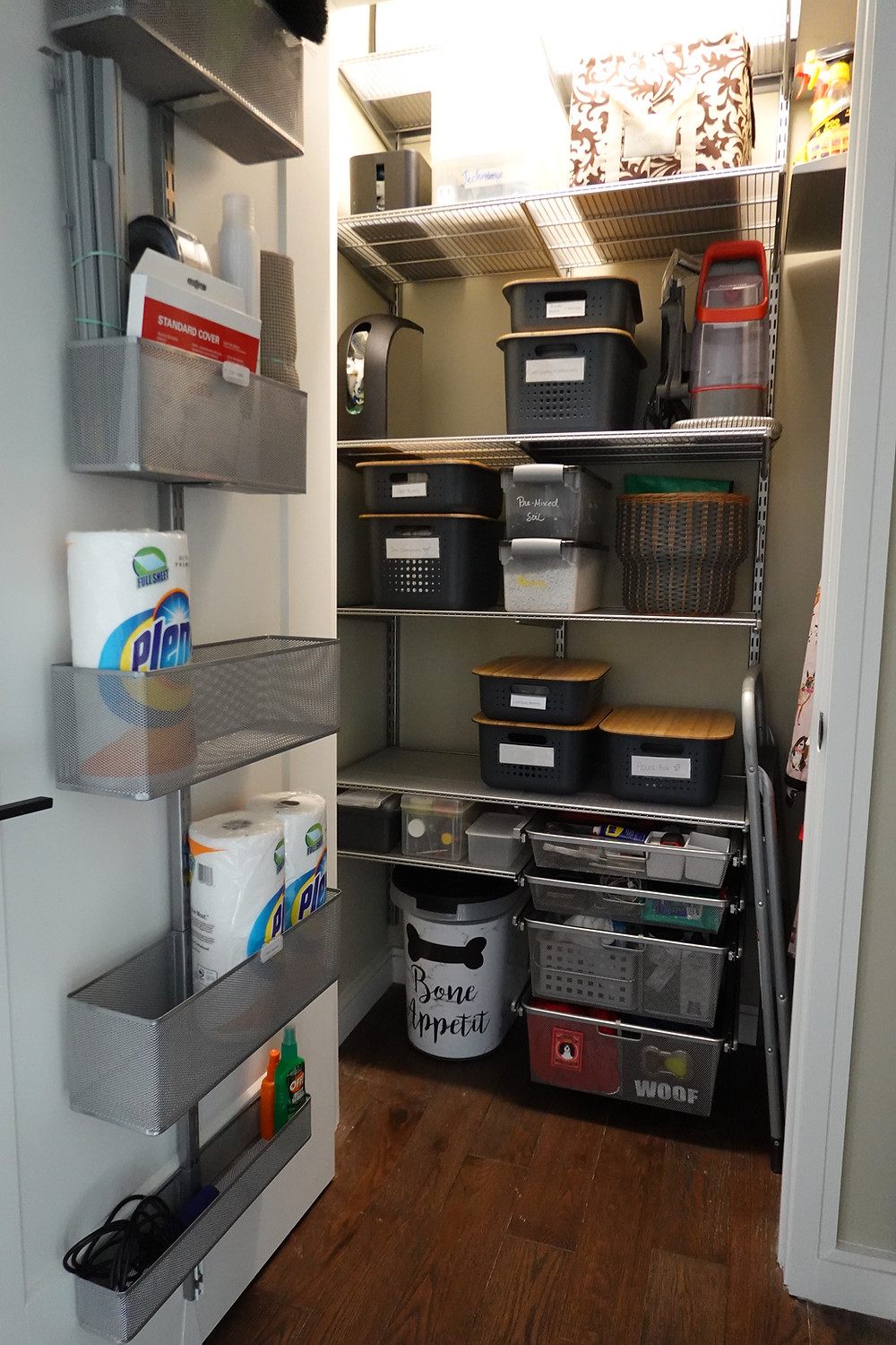 The Elfa Shelving System from The Container Store
