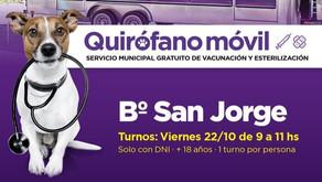 San Jorge: Hoy se entregarán turnos para castraciones gratuitas