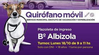 Barrio Albizola: el lunes se entregarán turnos para castraciones gratuitas