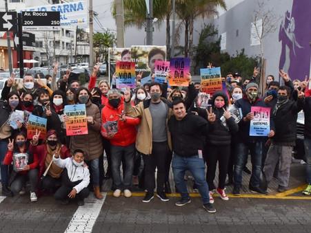 """Alejo Sarna: """"Les pedimos la oportunidad de empezar a construir la ciudad y el futuro que queremos"""""""