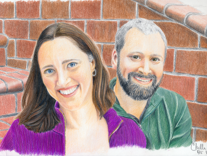 Self portrait of me and my hubby