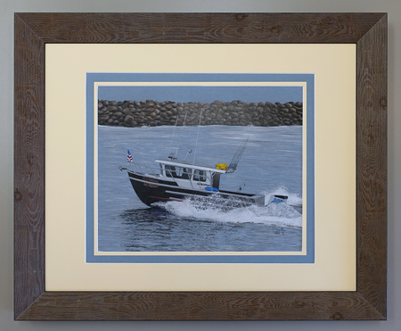 11x14 package, double matted with color paper accent, 16x20 frame
