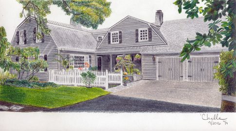 Dutch Revival styled home