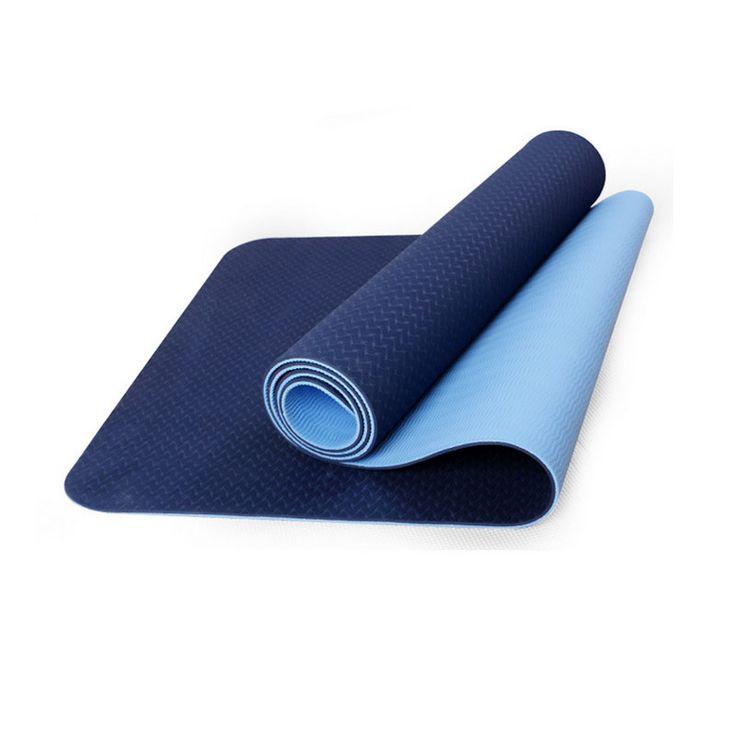 tapete de yoga tpe azul