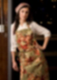 Model modelling apron.