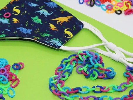 DIY Children Face Mask Lanyards