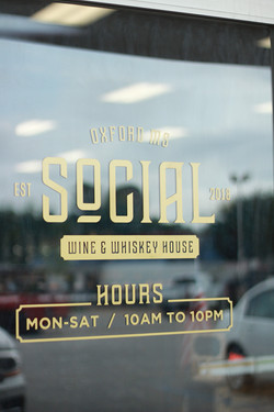 Social Wine And Whiskey Door