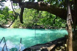 Swim in a fresh water lagoon