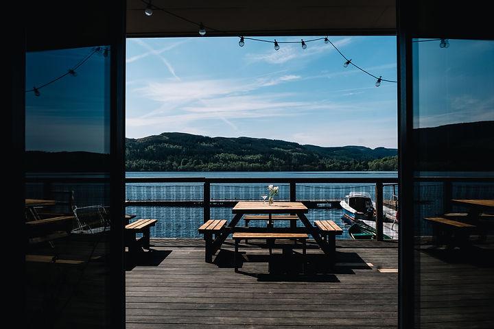 Venachar Lochside Restaurant Loch View