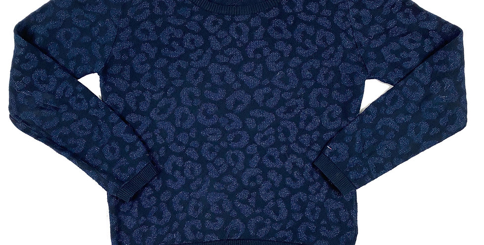 Tommy Hilfiger - Sweater blue leopard