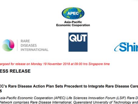 Press Release on APEC's Rare Disease Action Plan