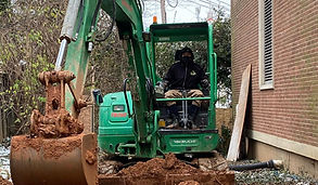 digging utility trenches and excavation
