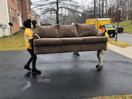 junkman removing furniture from home