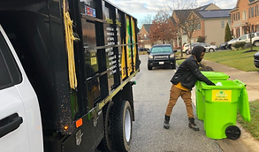 providing curbside trash collection at residential home