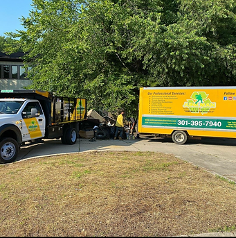 junkman removal cleaning up property for management company