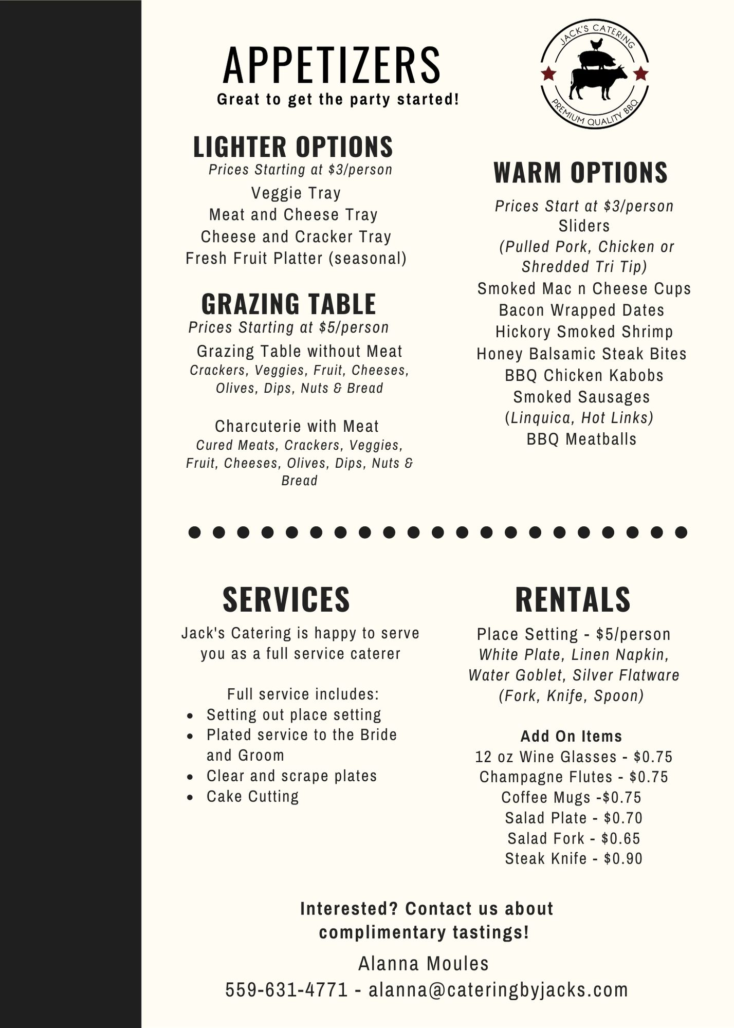 Wedding_Large Events Catering Menu 2022.
