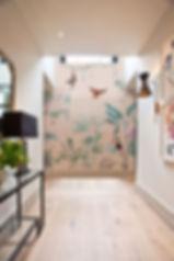 Coral and Sage wallpaper bespoke tall wa
