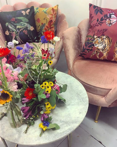 Alice ACreman Silks Cushions Etsy Event