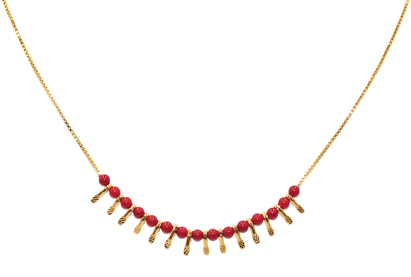 Collier Nycel corail