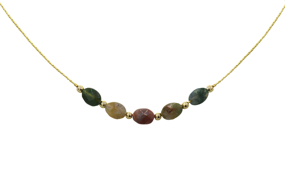 Collier Yvette - Agate indienne