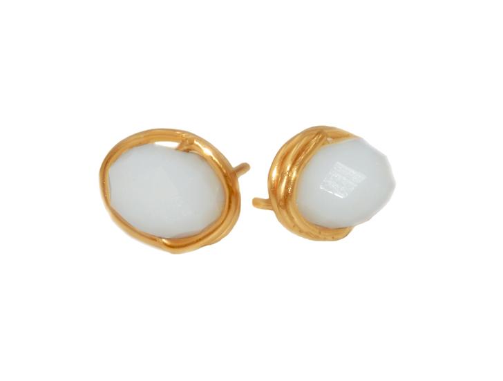 Boucles d'oreilles Nelis ( Plaqué or)