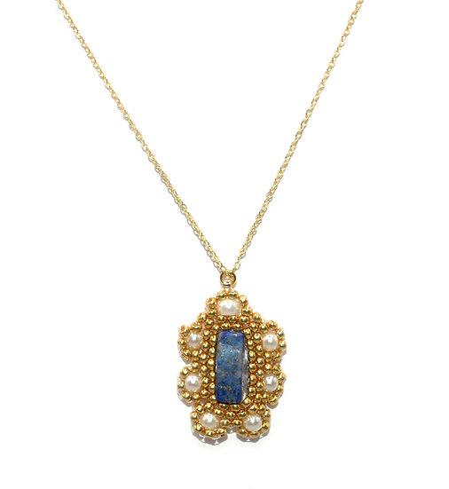 Collier Nicha -Lapis-lazuli