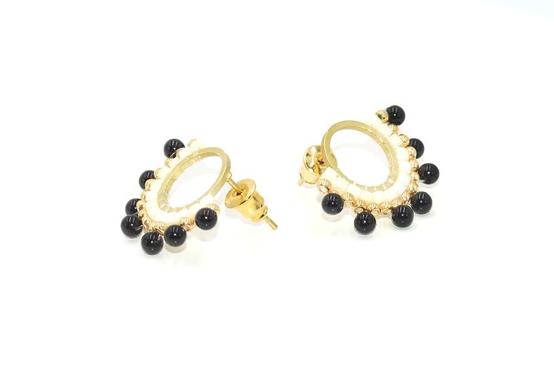Boucles  d'oreilles Nita- Onyx