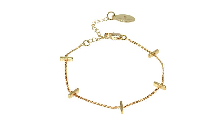 Bracelet Nalaîka (plaqué or)